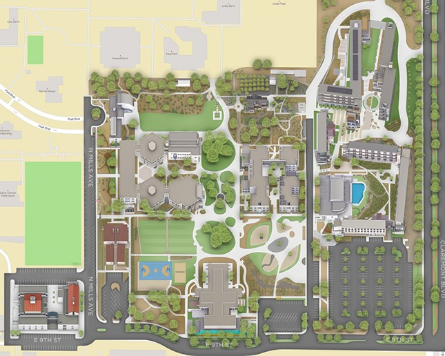 Maps And Directions About Pitzer College - Us-college-and-university-reference-map