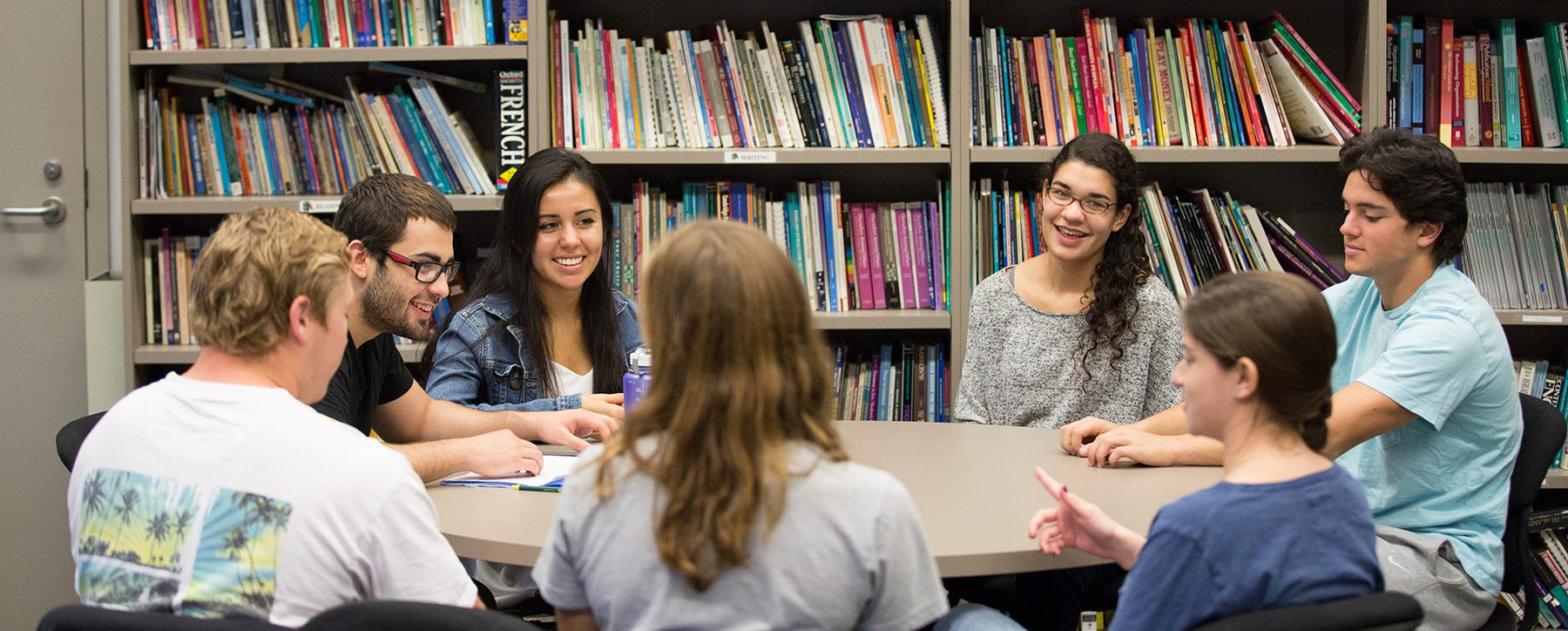 Students in the Language Lab, Broad Hall