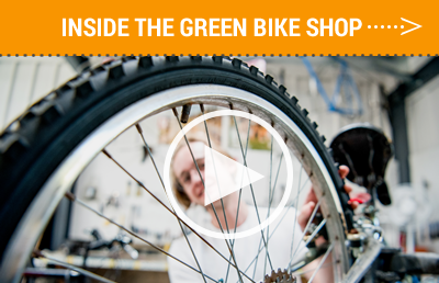 Inside the Green Bike Shop of Pitzer