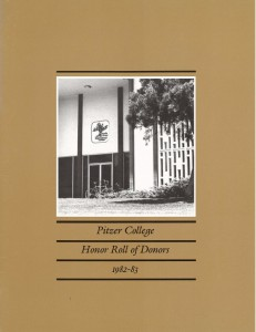 Cover 1982-83 Honor Roll of Donors