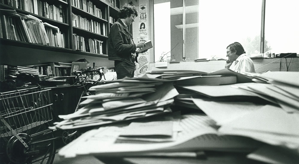 James Bogen, professor of history, in his office in 1978.