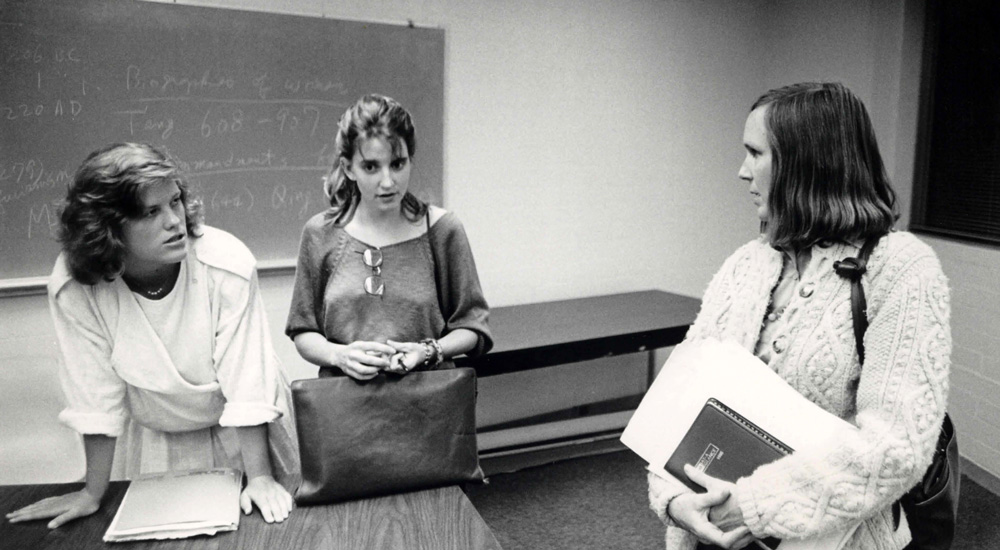 Susan Seymour, professor of anthropology, in the 1970s.