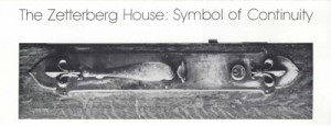 Brochure cover, 1977-The-Zetterberg-House-Symbol-of-Continuity