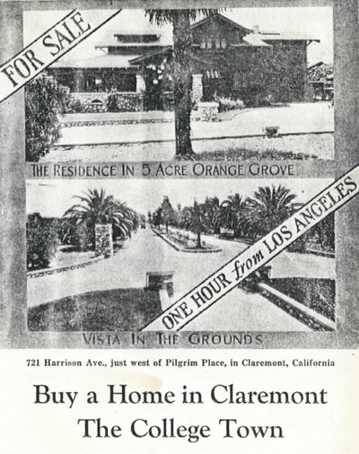 Early real estate ad for the Grove House