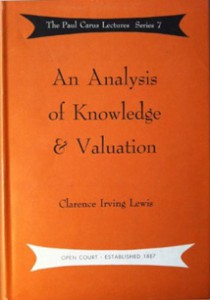 Book Cover -  An Analysis of Knowledge and Valuation