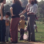 Kohoutek 1976 - Professor Barry Sanders and family.