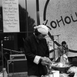 1985 Khoutek - Doing a little stir frying in front of the stage -- performance art, perhaps?