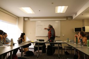 Edgar Heap of Birds visits the Unsettled Landscapes course