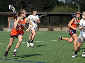 Aubrey Douglass '16 had the tying goal and assisted on the game-winner in a 9-8 road win over Occidental.