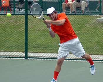 Maxwell Sabel '13 was a perfect 4-0 this week in wins over No. 17 Gustavus Adolphus and Occidental.