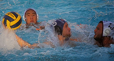 Jarrod Gaut '14 had two goals to help the Men's Water Polo team to a 10-5 win over No. 14 Santa Clara on his Senior Day.