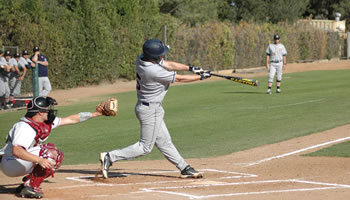 Jackson Badger '14 homered and doubled in the rubber game of a SCIAC-opening series with CMS, helping the Sagehens to a 5-3 win.