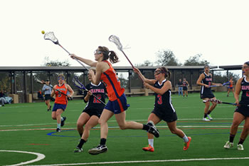 Jana London '14 had a career-high 10 goals in the Women's Lacrosse team's 18-8 win over Puget Sound.