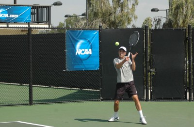 Christopher Wiechert '14 closed out his Sagehen career with a dominant doubles win against No. 1 CMS.