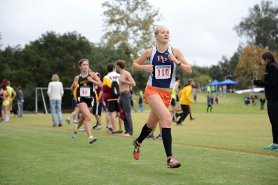 Camille Matonis '15 helped the Women's Cross Country team to a fourth place finish at the UC Irvine Invitational, tops among Division III programs (photo by Paul Messana '17).