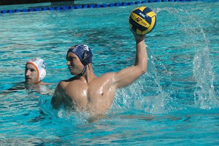 Stephen Vint '15 scored twice in his final game for the Sagehens Men's Water Polo team.
