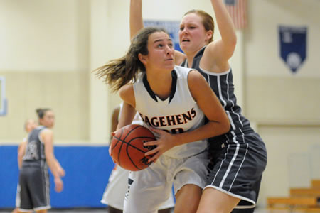 Amelia Hummel hit the go-ahead basket with 51 seconds left as the Women's Basketball team began SCIAC play with a road win over Occidental on Saturday.