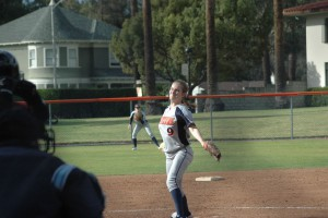 Eden Griffen '17 threw a shutout for the Softball team in a doubleheader sweep of Puget Sound.