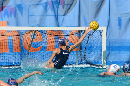 Ahsha Earwood '17 helped the Women's Water Polo team to a perfect 4-0 record at its annual Convergence Tournament.