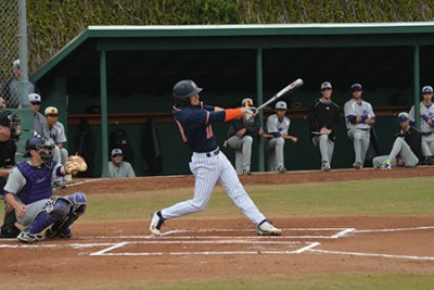 Samuel Fox '15 hit his first three career home runs in one day to lead the Sagehens Baseball team to a three-game sweep of Whittier.