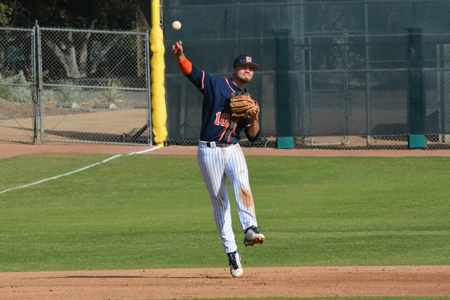 Samuel Fox '15 extends his hitting streak to 19 games for the Sagehens Baseball team