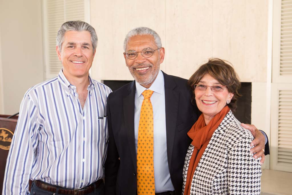 Shahan Soghikian '80, Chair, Board of Trustees, President-designate Melvin L. Oliver and Suzanne Oliver