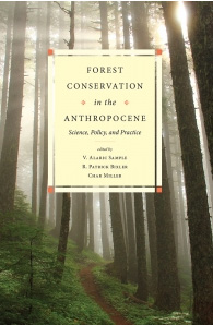 Book cover, Forest Conservation in the Anthropocene
