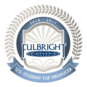 2016-17 Fulbright U.S. Student Top Producer