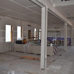 Classroom construction, March 2017.