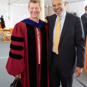 Professor Andre Wakefield and President Melvin L. Oliver, Inauguration of Pitzer College President Melvin L. Oliver