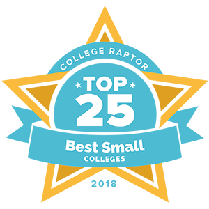 College Raptor Top 25 Best Small Colleges badge