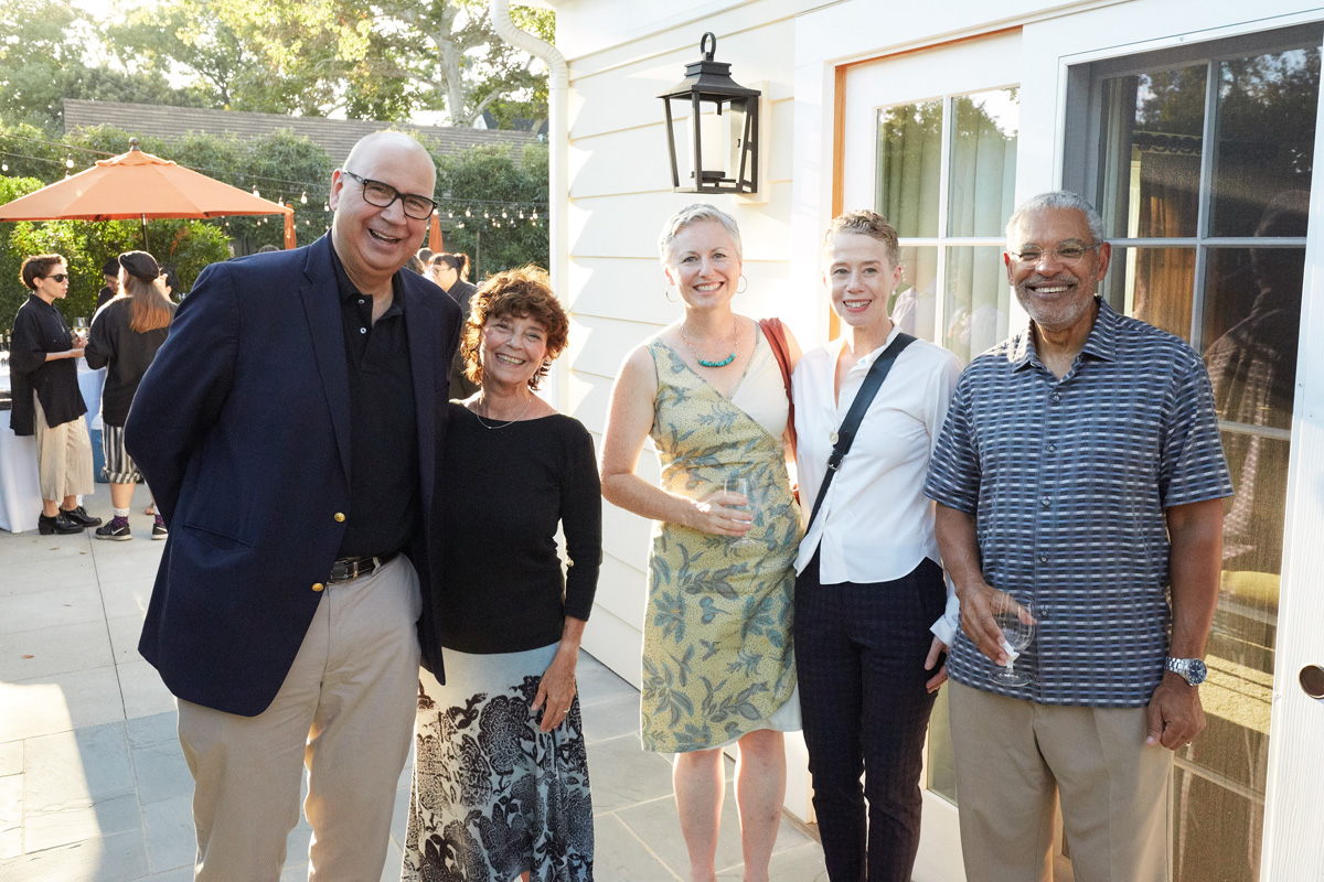 President and Suzanne Oliver and guests at the President's Reception.