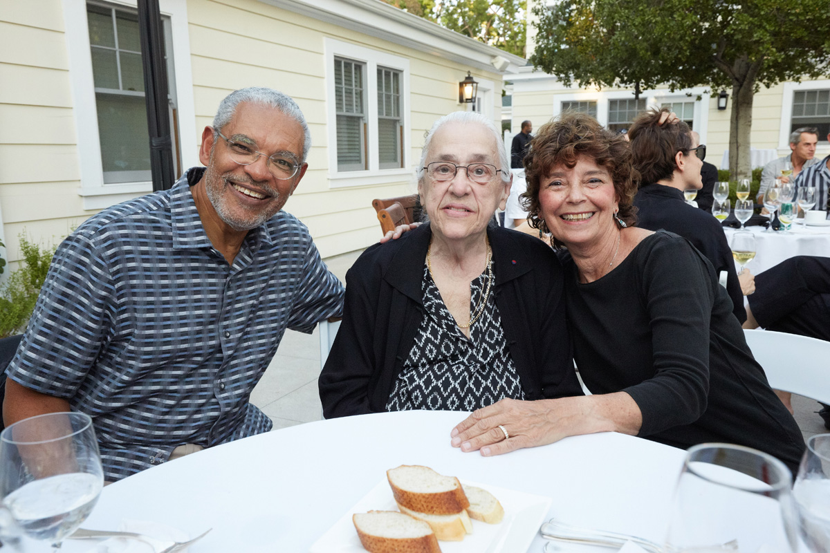 President Melvin L. Oliver and Suzanne Oliver with Marilys Downey.