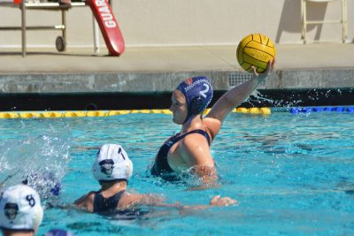 Alyssa Woodward '15 and Women's Water Polo action.