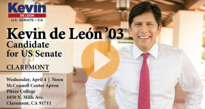 Kevin de Leon '03, Candidate for US Seante