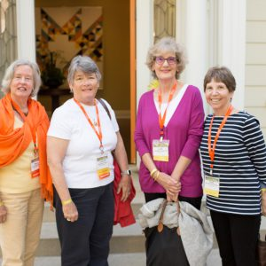 Members of the Class of 1968 arrive at the President's reception and dinner.
