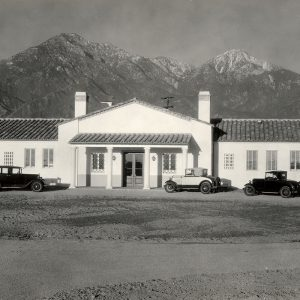 Archive photo of the Memorial Infirmary, Claremont University Consortium, about 1931 soon after it was completed.