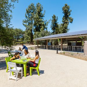 Outdoor classroom at the Robert Redford Conservancy, Pitzer College