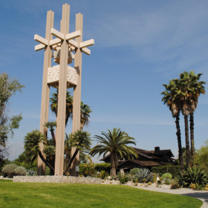 Brant clock tower at Pitzer College