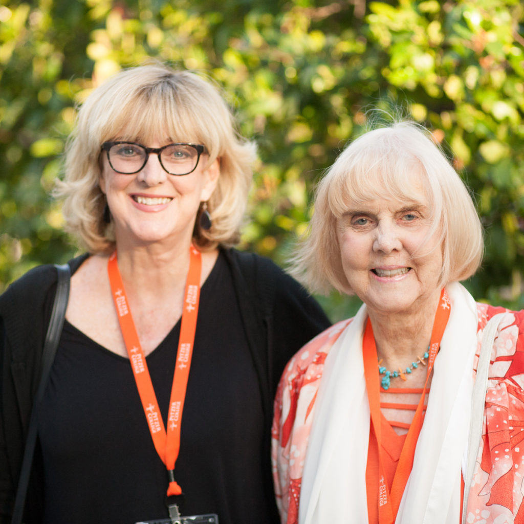 Margreta Klassen Dunn '68 with her daughter Melissa Bundy at the President's Residence reception and dinner for the Class of 1968.