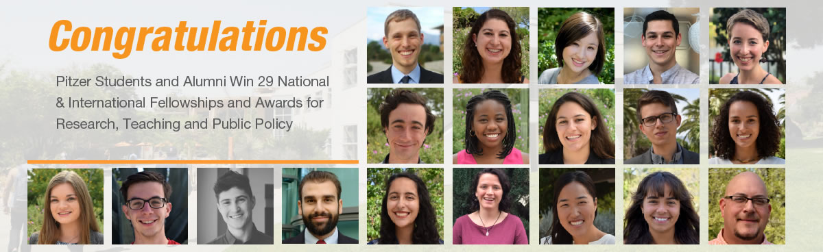 Congratulations Students and Alumni Win 29 National & International Fellowships and Awards for Research, Teaching and Public Policy