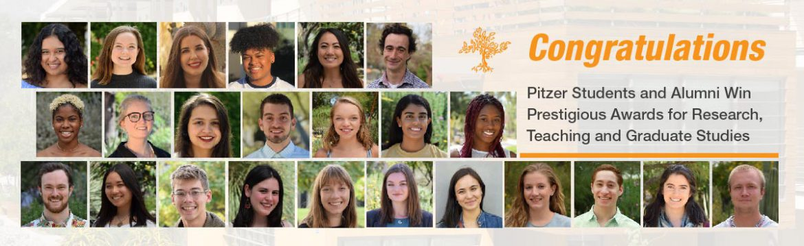 Pitzer students and alumni win prestigious awards for research, teaching and graduate studies