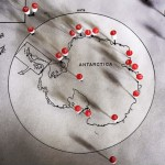 ANNE NOBLE; Antarctica: Index/1 (nine maps) (2003-2006); Inkjet print: pigment on paper; 11.8 x 9.1 inches ; Courtesy of the artist
