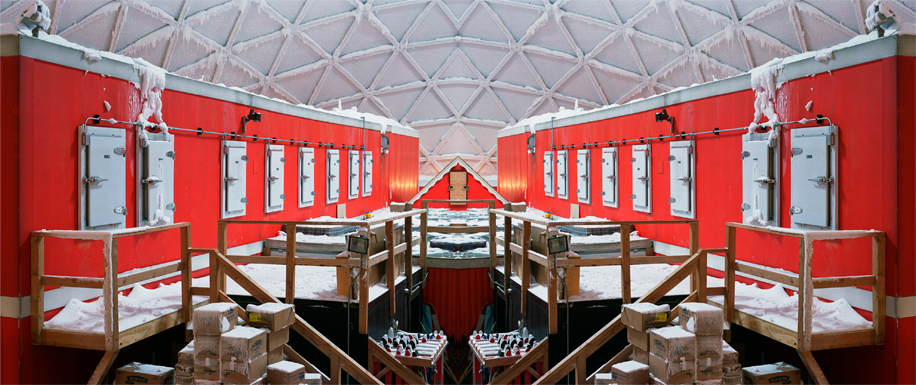 Connie Samaras, VALIS (vast active living intelligence system), Dome Interior, South Pole (2005-2007), C-Print 25 x 60 inches, Courtesy of De Soto Gallery, Los Angeles and the artist.