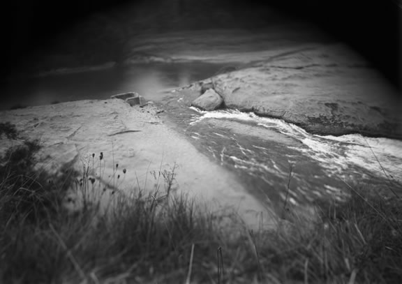 Sometimes she resides where the two rivers meet; Daguerreotype; 4 1/2 x 7 in.