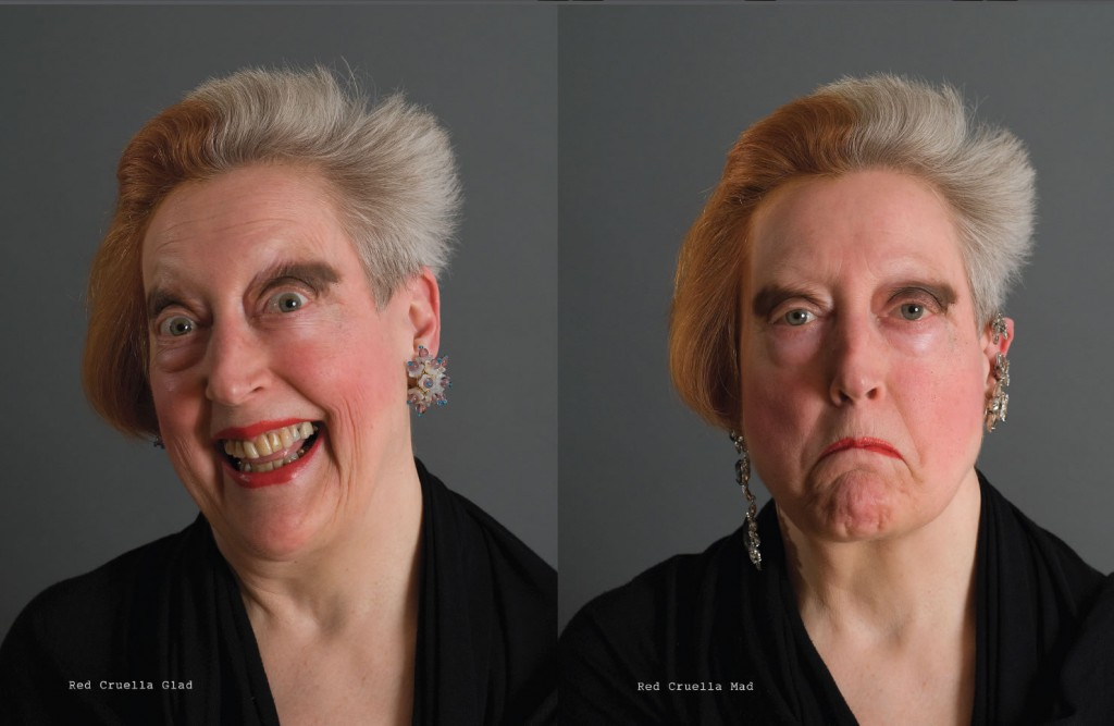 Red Cruella (2010); Color photographs, text; 20 1/4 x 29 1/4 in. framed; Edition of 5, 2AP; courtesy of the artist