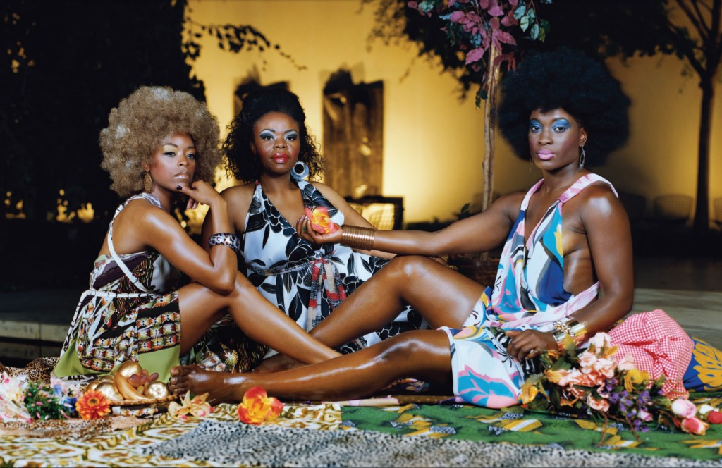 Le dejeuner sur l'herbe: trois femmes noires, 2010. Courtesy of the artist, Susanne Vielmetter Los Angeles Projects, Lehmann Maupin, NY and Artists Rights Society (ARS), New York