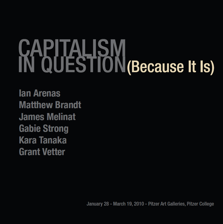 Catalogue Cover - Capitalism in Question