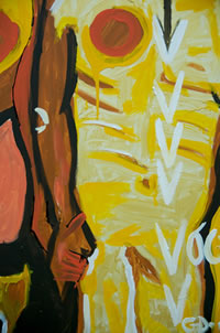 =Voce (2011); Acrylic; 24×36 inches