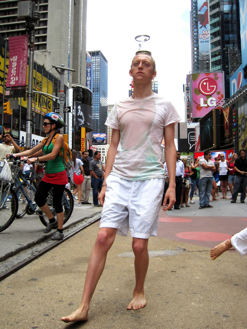 SpilLover (2010); Performance, Times Square, NYC; 3 hours
